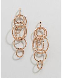 Ashiana - Metallic Interlocking Circle Drop Earrings - Lyst