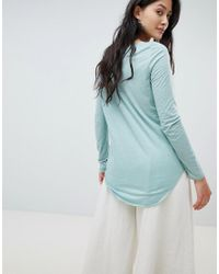 Vero Moda - Blue Long Sleeve Round Neck T-shirt - Lyst