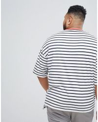 ASOS - Multicolor Plus Oversized Stripe T-shirt for Men - Lyst