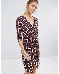 Closet - Purple Closet V Neck Drape Dress - Lyst