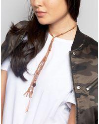 ASOS - Metallic Prairie Charm Choker Necklace - Lyst