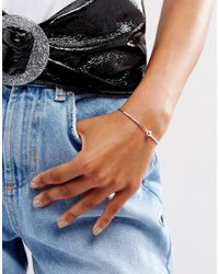 ASOS - Metallic Simple Cuff Bracelet - Lyst