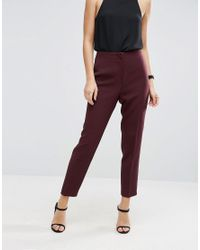 ASOS - Green Clean High Waisted Slim Trousers - Lyst