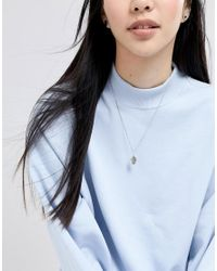 ASOS - Metallic Sterling Silver Vintage Style Reversible Icon And Engraved Cross Necklace - Lyst