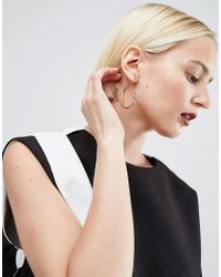 ASOS | Metallic Spring Coiled Hoop Earrings | Lyst