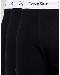 CALVIN KLEIN 205W39NYC - Black 3 Pack Trunks Cotton Stretch for Men - Lyst