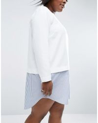 ASOS | White 2 In 1 Stripe Shift Dress | Lyst