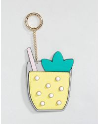 ASOS - Multicolor Cocktail Bag Charm Keychain - Lyst