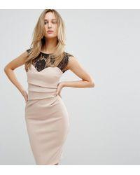 b7094f547f30 Lipsy Eyelash Lace Bodycon Dress in Pink - Lyst