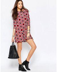 Noisy May Tall - Multicolor Star Print Shift Dress - Multi - Lyst