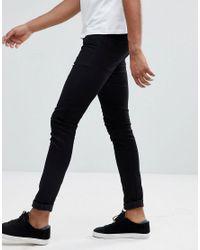 ASOS - Design Tall Super Spray On Jeans In Black for Men - Lyst