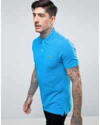 Lacoste | Slim Fit Pique Polo In Blue for Men | Lyst