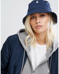 Polo Ralph Lauren | Blue Bucket Hat In Navy | Lyst
