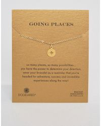 Dogeared | Metallic Gold Plated Going Places Open Compass Reminder Bracelet | Lyst