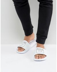 Ben Sherman - White Slider Sandals - Lyst