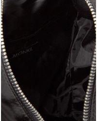 Monki - Black Zip Detail Backpack - Lyst