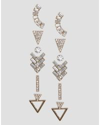 ALDO - Metallic Grice Multipack Shaped Earrings - Lyst