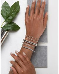 ALDO | Metallic Birnbaum Rose Gold Stacking Bracelets | Lyst