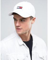 Hilfiger Denim - Tommy Flag Baseball Cap White for Men - Lyst