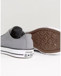 Converse - Gray Chuck Taylor All Star Hi Perforated Plimsolls In Grey 155444c for Men - Lyst
