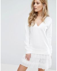 French Connection | White Eliza Jersey Dress | Lyst