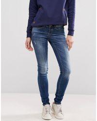 Blend She - Blue Glow Sally Skinny Jeans - Lyst