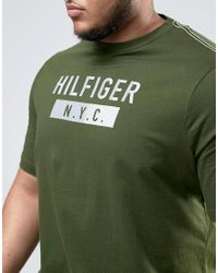Tommy Hilfiger - Plus Brad T-shirt Nyc Logo In Green for Men - Lyst