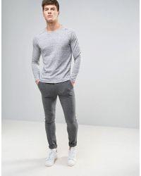 Jack & Jones - Gray Premium Sweater for Men - Lyst