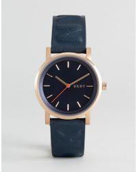 DKNY | Metallic Leather Soho Watch | Lyst