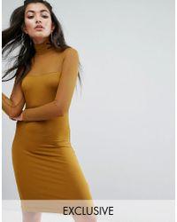 PUMA | Green Exclusive To Asos Bodycon Mesh Dress | Lyst