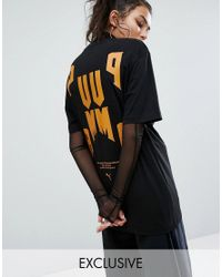 PUMA | Black Exclusive To Asos Statement Oversized Short Sleeve T-shirt | Lyst