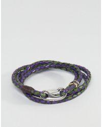 Paul Smith | Blue Leather Wrap Bracelet In Navy for Men | Lyst