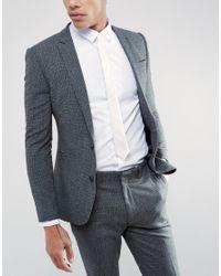 ASOS - Slim Tie In Pink Texture for Men - Lyst