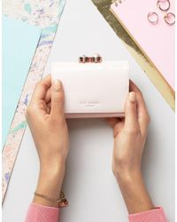 Ted Baker | Pink Pearl Bobble Patent Small Purse | Lyst