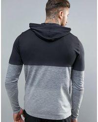 KI5-A - Black Ombre Seamless Hoodie for Men - Lyst