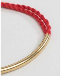 ASOS - Pink Multirow Cord Bar Bracelet - Lyst