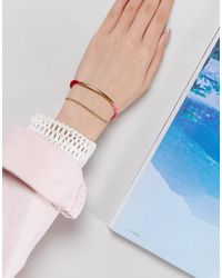 ASOS | Pink Multirow Cord Bar Bracelet | Lyst