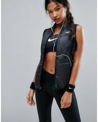 Nike   Running Polyfill Vest In Black   Lyst