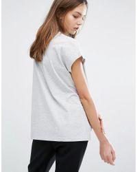 Weekday - Gray High Neck T Shirt - Lyst