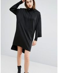 Cheap Monday   Black Oversized Sweat Hooded Dress   Lyst