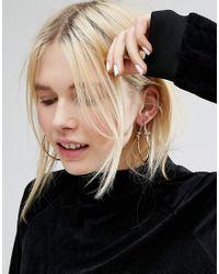 Monki - Metallic Knotted Hoop Earrings - Lyst