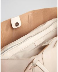 Mango - White Faux Leather Shopper Bag - Lyst