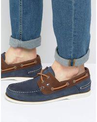 Tommy Hilfiger - Blue Knot Nubuck Boat Shoes for Men - Lyst
