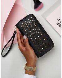 Yoki Fashion   Black Laser Cut Purse   Lyst