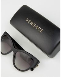 Versace - Black Classic Cateye Sunglasses With Medusa Head Detail - Lyst