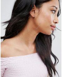 ASOS | Metallic Fine Wire Heart Hoop Earrings | Lyst