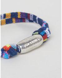 Classics 77 - Geo- Woven Bracelet In Blue for Men - Lyst