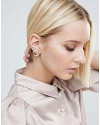 House of Harlow 1960 - Metallic Crescent Stud Earrings - Lyst