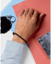 Seven London - Beaded Hook Bracelet In Black for Men - Lyst