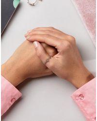 ASOS - Metallic Filigree Thumb Ring - Lyst